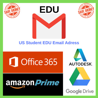 Edu Email 6 Months Amazon Prime Google Drive New US Student Mail Free shipping
