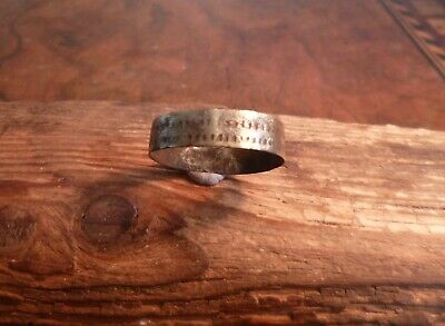 Stunning Early Medieval Saxon Band Decorated Ring-British Detecting Find