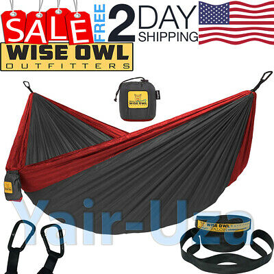 Wise Owl Outfitters Hammock Camping Double & Single with Tree Straps Backpacking