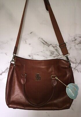 Tommy Bahama, Luxury Travel, Ibiza Collection Leather Messanger Bag Top Handle