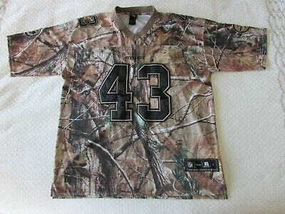 purchase cheap f1a0a 91a47 REEBOK RARE PITTSBURGH STEELERS RealTree Camo Jersey Polamalu Size Large