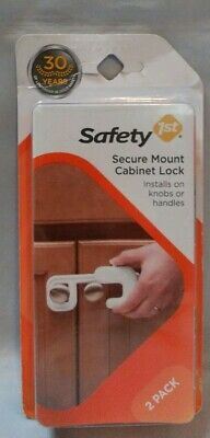 Safety 1st Secure Mount Cabinet Lock, 2 Count, New, Free Shipping -Baby Proofing