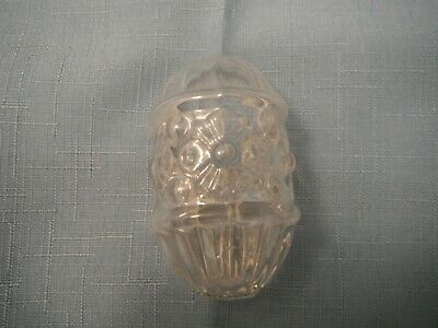 BIRD CAGE FEEDER, Antique/Vintage  Clear glass  ribbed floral