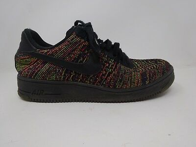 huge selection of 33d16 2522d NIKE AF1 ULTRA Flyknit Air Force 9.5 EUR 43 Black Multicolor Fabric Sneakers