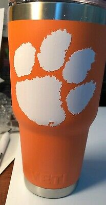 CLEMSON TIGERS  w Magslider Lid  30 Oz Tumbler Cup -Limited To Stock On Hand