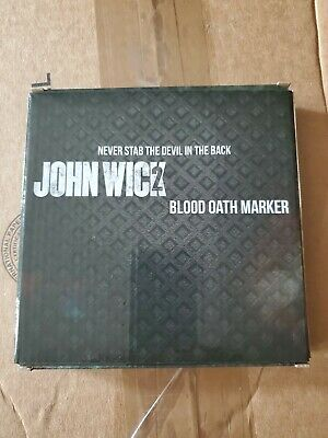 John Wick: Chapter 2 Blood Oath Marker and Continental Coin Prop Replica Set new