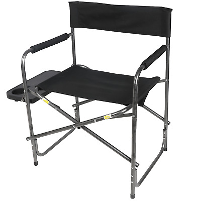 Fabulous Ozark Trail Directors Camping Chair Foldout Side Table Black Ibusinesslaw Wood Chair Design Ideas Ibusinesslaworg