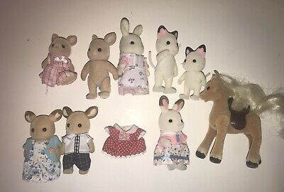 CALICO CRITTERS Mixed LOT Sylvanian Families Figures WILLOW Horse Buckley Deer +