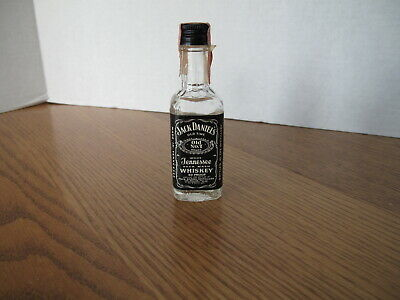 Vintage Mini Liquor Bottle Jack Daniel's Old No. 7 Tennessee Whiskey Tax Stamp