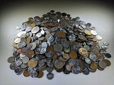 6Lb Huge World Coin Collection Foreign Lot Canadian British Tokens Spendable! NR