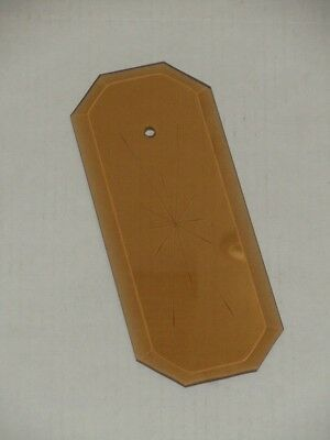 Vintage Amber Starburst Octagon Shape Chandelier Panel Glass Beveled (36) Avail