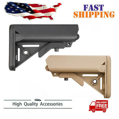 Enhanced SOPMOD Mil-Spec Buttstock 6 Position Two Colors BLACK / Khaki