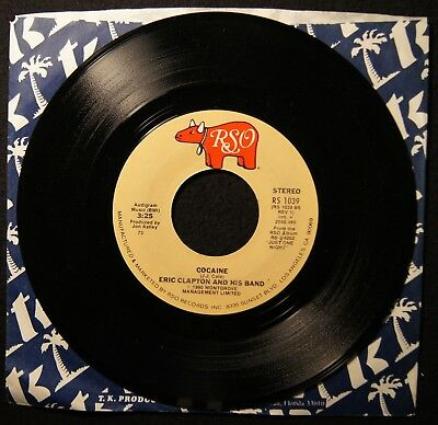 ERIC CLAPTON AND HIS BAND Cocaine / Tulsa Time 45 RPM PROMO Record (A6333)