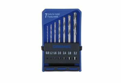 DREMEL® 7 Piece Precision Drill Bit Set 628, Miniature Drill Bits 0.8mm - 3.2mm,