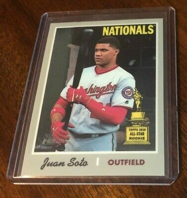 Juan Soto Nationals 2019 Topps Heritage Chrome All Star Rookie #d 425/999