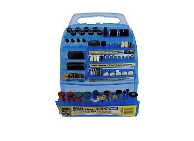 Miniature Power Tool Accessory Kit For Dremel Rotary Tools 400 Piece Set & Case