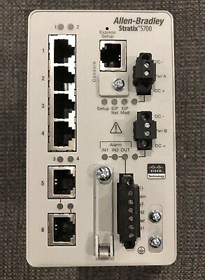 Allen Bradley 1783-BMS06TL /A 2018 Stratix 5700 Ethernet Switch