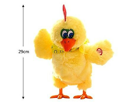Electric Chicken Singing Dancing Doll Plush Toy Christmas Birthday Kids Gift