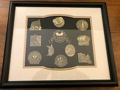 Disney Pin Trading's 10th Anniversary Disneyland Icons Framed Pin Set LE 100