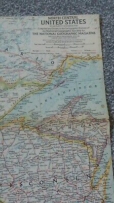 vintage map of NORTH CENTRAL UNITED STATES 1958