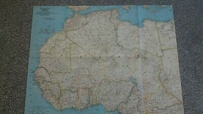 vintage map of NORTH WESTERN AFRICA 1966