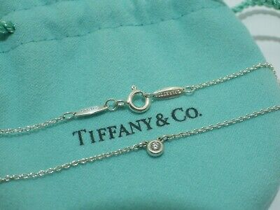 44c3c9285 TIFFANY & Co. Elsa Peretti Sterling Silver & 0.03ct Diamond By The Yard  Necklace