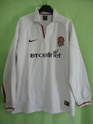 Maillot Rugby Angleterre Nike jersey England BTcellnet 2001 Vintage coton - L