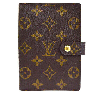 Auth LOUIS VUITTON Agenda PM Day Planner Cover Monogram Brown R20005 09ER001
