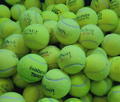 """15 USED TENNIS BALLS """"WASHED"""" - so no chemicals that can burn your dogs mouth"""