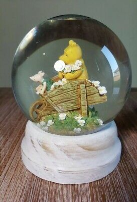 Adorable Michel Co. Disney Winnie The Pooh With Piglet On Wheelbarrow Snow Globe