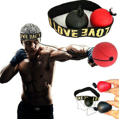 Fight Ball Reflex Boxing Trainer Training Boxer Speed Punch Head Cap String Ball