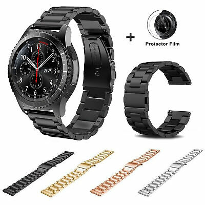 Stainless Steel Clasp Wrist Watch Band For Samsung Gear S3 Classic Frontier 22mm