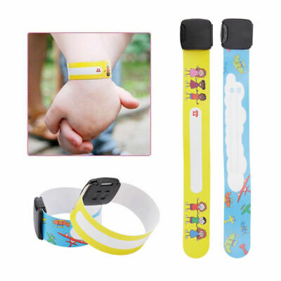 8/12Pc Emergency Bracelet For Child Safety Waterproof ID Name Wrist Band AUstock
