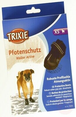 Trixie Walker Active Protective Dog Boots, X-Small, Black