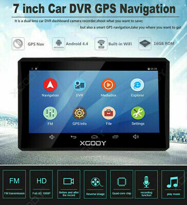 """7.0"""" HD 1080P Touch Screen Android Car DVR Vehicle Rearview Camera GPS G-sensor"""