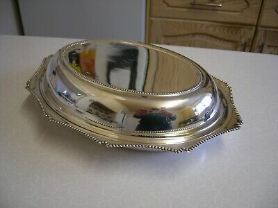 Vintage Silver Plated Entree/Serving Dish with Lid (2126)