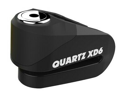 Oxford Quartz XD6 Disc Lock - Motorcycle Scooter ATV 6mm Pin Strong Alloy BLACK