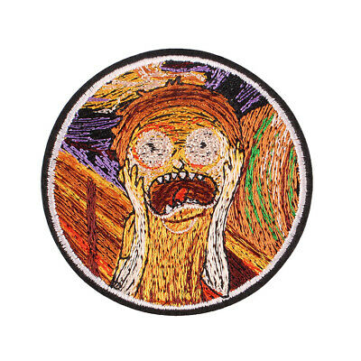 """Scared Girl Art Oil Painting Embroidered Iron ON Patch for Clothes Badge 2.8"""""""