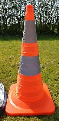 30 Inch Pop Up, Light Up Traffic Cone