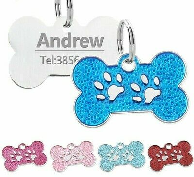 Personalized Dog Tag Engraved Cat Stainless Steel Pet ID Name Collar Tag Pendant