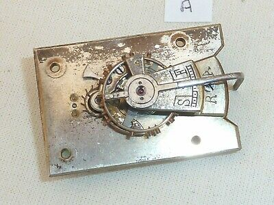 Old Large Silvered Carriage Clock Platform Escapement  43 mm x 29 mm