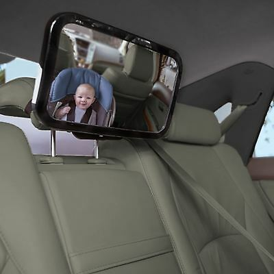 Rear Car Seat Baby Child Safety Mirror Large Wide View Adjustable Headrest Mount