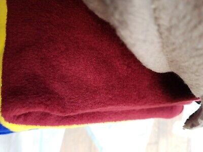 Red wine  coloured polar anti pill  Fleece Width 160cm x 80 cm( b8)