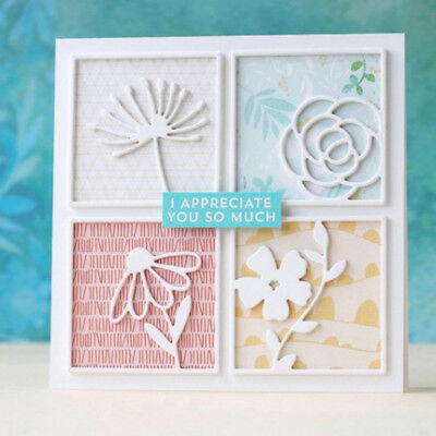 Four square Design Metal Cutting Die For DIY Scrapbooking Album Paper Card ZF