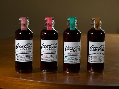 Coca-Cola Signature Mixers 2019 Set of 4 Glass Bottles 200mlLimited Edition