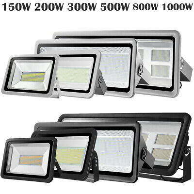 LED Floodlight 150/200/300/500/800/1000W Outdoor Garden Security Lamp Warm Cool