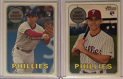 Scott Kingery 2018 Topps Heritage High Number Action Variation SP RC Phillies