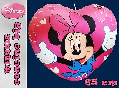 peluche disney cuscino cuore minnie big 70 x 50 cm nuovo