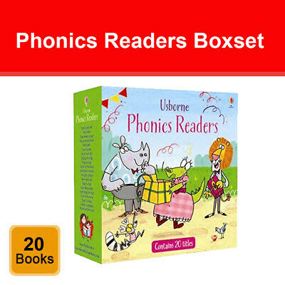 Usborne Phonics Readers 20 Books Collection Box Set Childrens Reading Pack NEW