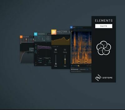 IZOTOPE ELEMENTS SUITE 4: Nectar 3, RX 7, Ozone 8, Neutron 3 - All  Elements, New